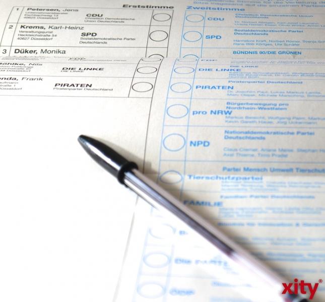 Angepasste Stimmzettel für Blinde und Sehbehinderte zur Europawahl (xity-Foto: D. Creutz)