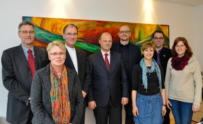 Aachener Weihbischof Karl Borsch zu Gast an der Hochschule Niederrhein (Foto: Hochschule Niederrhein)