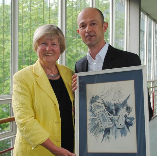 Mit Gerda Schnell scheidet mit der Kommunalwahl am 25. Mai 2014, eine leidenschaftliche Kämpferin für die Denkmalpflege aus dem Stadtrat aus. (Foto: SPD Krefeld)