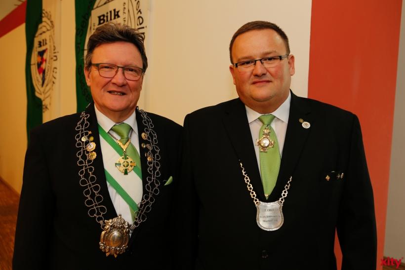 Dieter Caspers, 1. Chef der Bilker Schützen und Michael Schwarz, 2. Schützenchef (xity-Foto: P. Basarir)