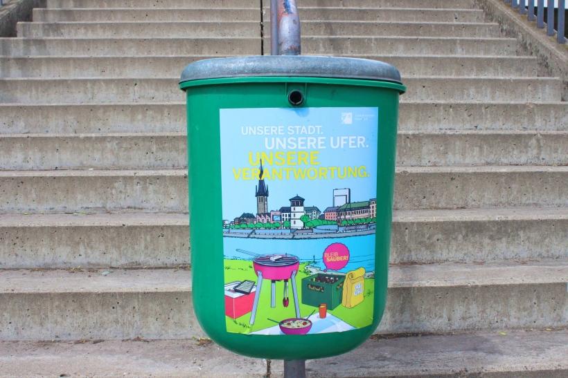 Kampagne für Sauberkeit am Rheinufer gestartet (xity-Foto: D. Postert)