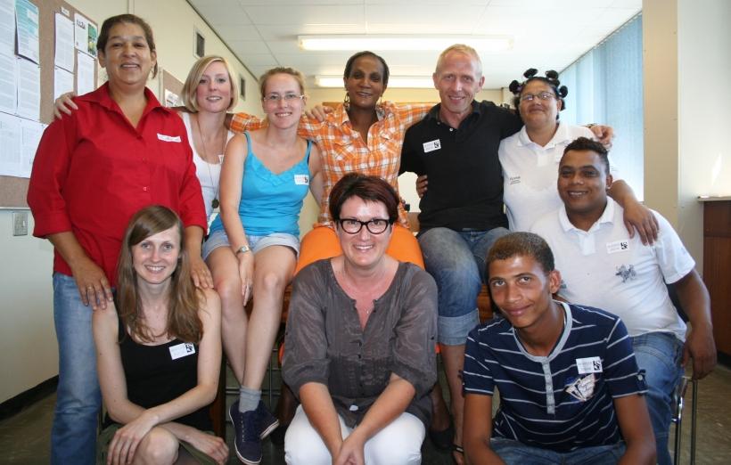 Oecotrophologie-Studierende der Hochschule Niederrhein unterstützen Sozialprojekt in Südafrika. (Foto: Hochschule Niederrhein)