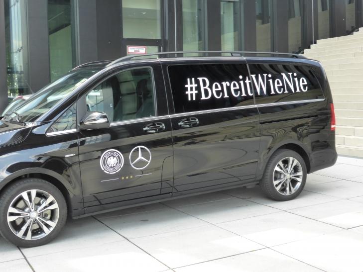 """Bereit wie nie"", so das Motto des DFB-Teams (xity-Foto: P.I.)"