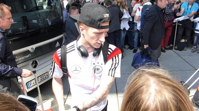 Marco Reus bei der Ankunft im Hyatt (xity-Foto: P.I.)