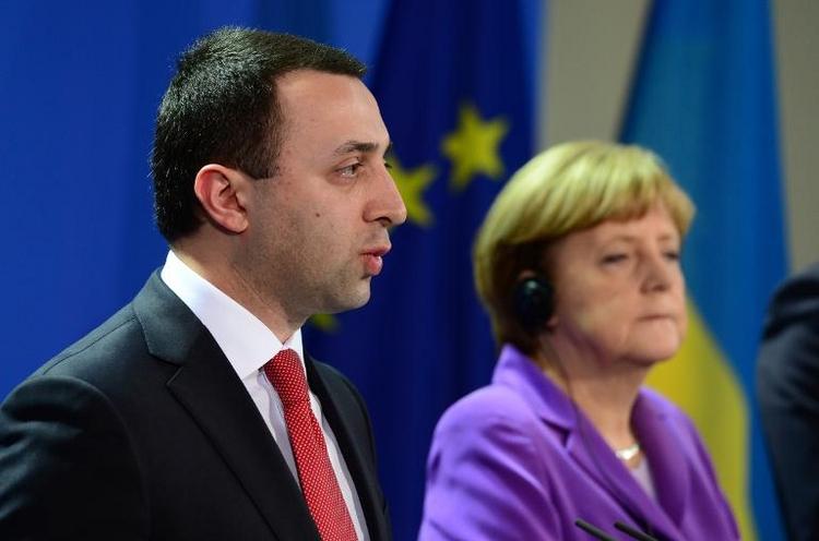 Bundeskanzlerin Merkel empfängt Georgiens Regierungschef (© 2014 AFP)