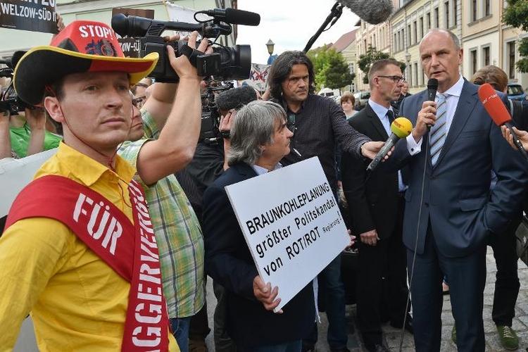 Brandenburg beschließt umstrittenen Braunkohleplan (© 2014 AFP)