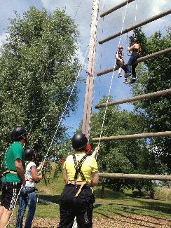 Die 12 Meter hohe Riesenleiter. (Foto:Presse Wolfsburg)