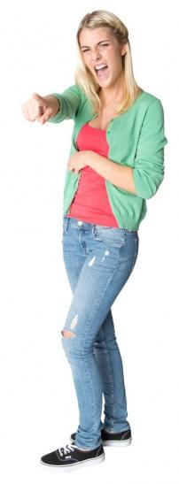 """Die Krefelder Auszubildende Melanie Nickel - angehende  Mediengestalterin beim Medienhaus Stünings - gibt der Aktion  """"CHECK IN Berufswelt 2014"""" ein Gesicht. (Foto: Lothar Strücken)"""