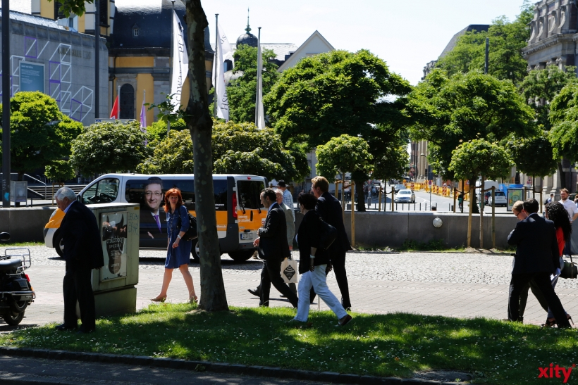 Der Wahlkampfbus von Dirk Elbers (xity-Foto: D.Creutz)