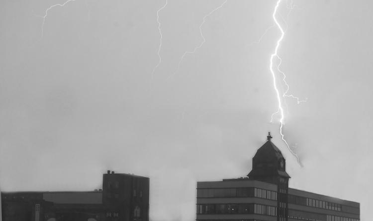 Unwetter wütete über Duisburg. (xity-Foto: M. Völker)