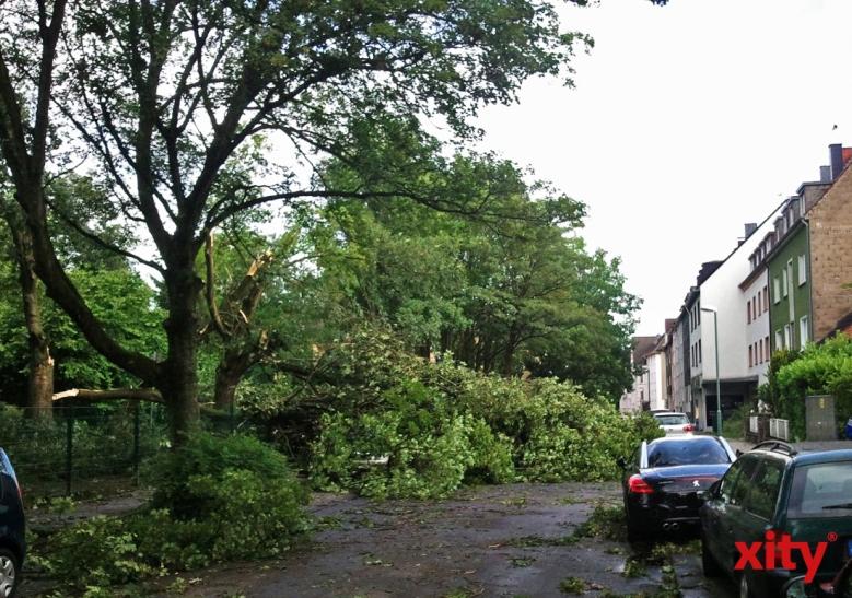 Noch immer sind nicht alle Schäden des Unwetters behoben (xity-Foto: A.Meyer)