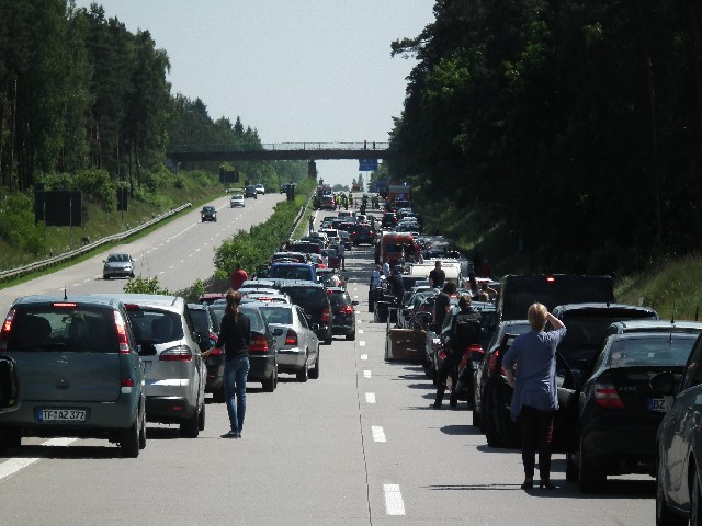 Im Süden weiterhin dichter Reiseverkehr am Wochenende (xity-Foto: D. Postert)