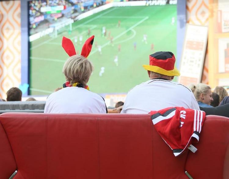 Deutscher WM-Auftaktsieg beschert ARD Top-Quote (© 2014 AFP)