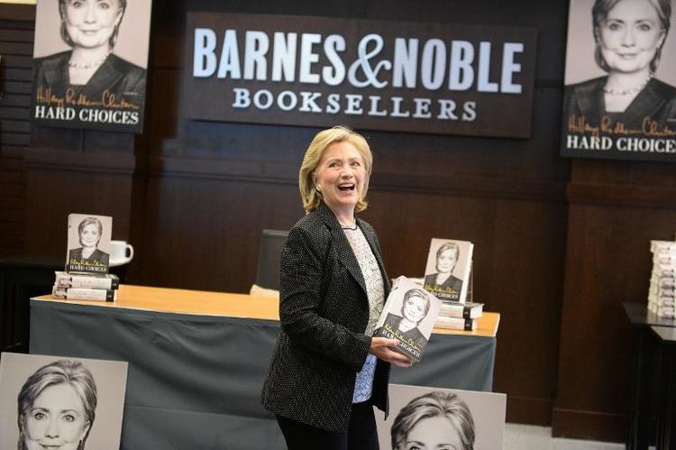 Hillary Clinton will ihr Buch in Deutschland vorstellen (© 2014 AFP)