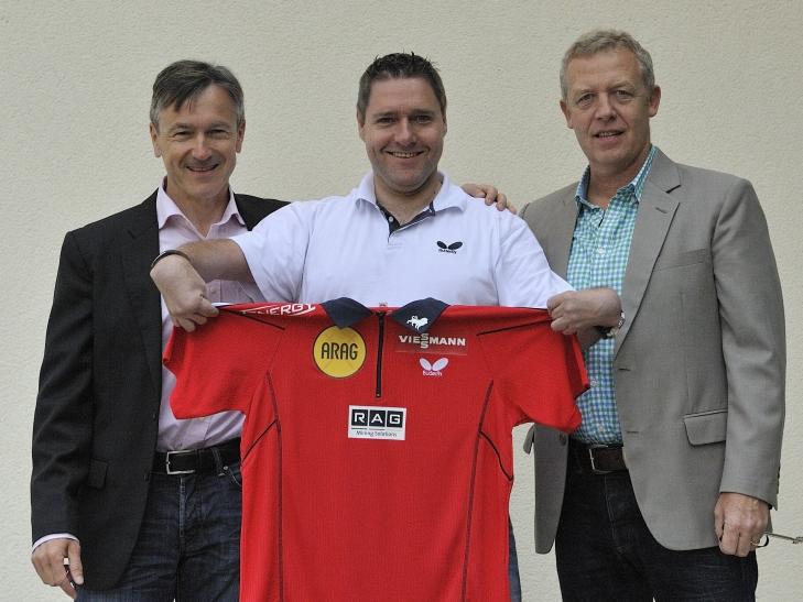 Andreas Preuß, Manager Borussia Düsseldorf / Jochen Wollmert / Jo Pörsch, Geschäftsführer Borussia Düsseldorf (Foto: majo-foto)