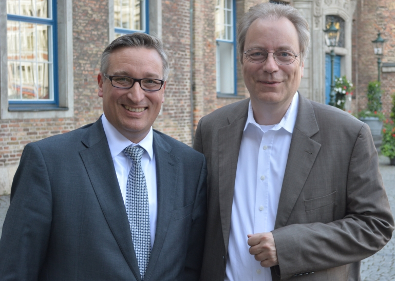 Erster stellvertretender Vorsitzender Andreas Hartnigk und neuer Vorsitzender der Ratsfraktion Rüdiger Gutt (Foto: CDU Düsseldorf)