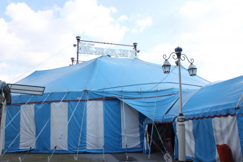 """In der größten rollenden Circusstadt Europas wird das Jubiläums-Programm """"Celebration"""" gezeigt. (xity-Foto: E. Aslanidou)"""