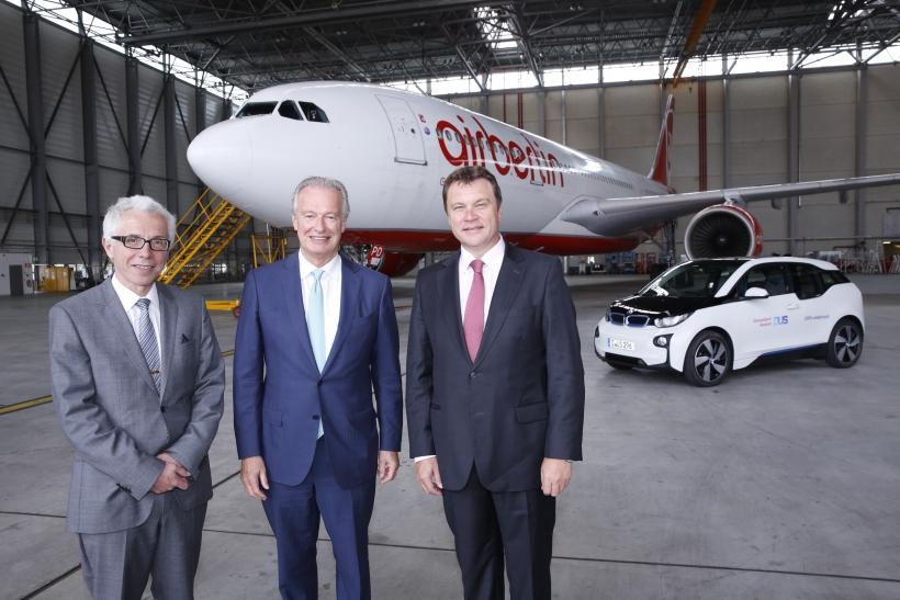 BDL, Air Berlin und Düsseldorf Airport stellen Fortschritte in der Energieeffizienz im Luftverkehr vor (Foto: Düsseldorf Airport)