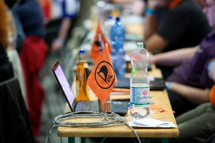 Piraten beenden zweitägigen Parteitag in Halle (© 2014 AFP)