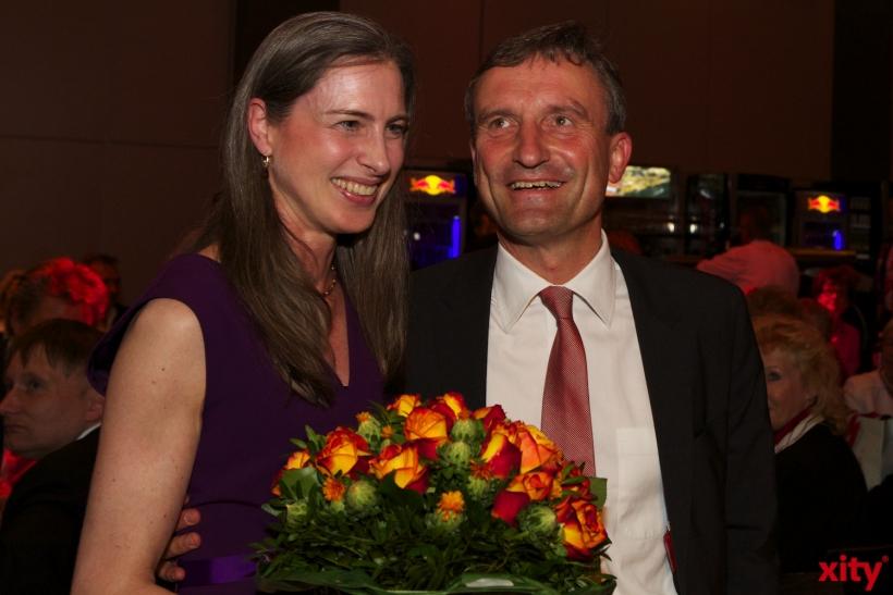 Der designierte Oberbürgermeister Thomas Geisel und seine Frau Vera waren ebenfalls gekommen (xity-Foto: D. Creutz)