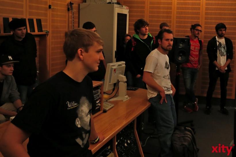 Interessierte Schülerinnen und Schüler konnten einen Tag Medienluft schnuppern (xity-Foto: D. Creutz)