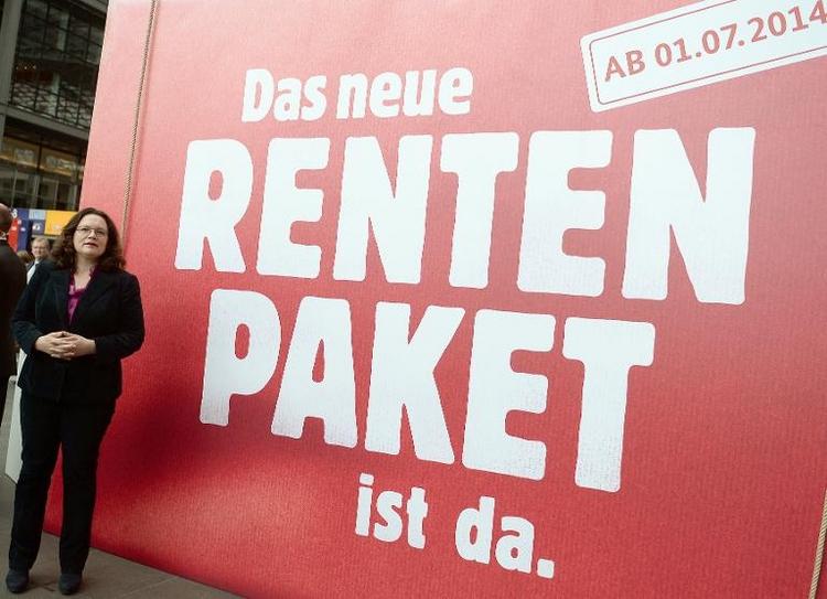Rentenpaket der Regierung tritt in Kraft (© 2014 AFP)