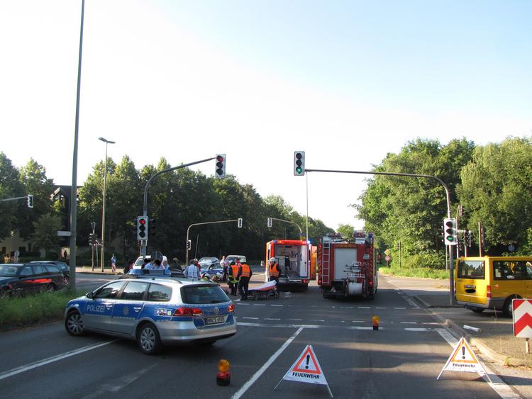 Fahrradfahrer schwer verletzt (Foto: Polizei Mettmann)