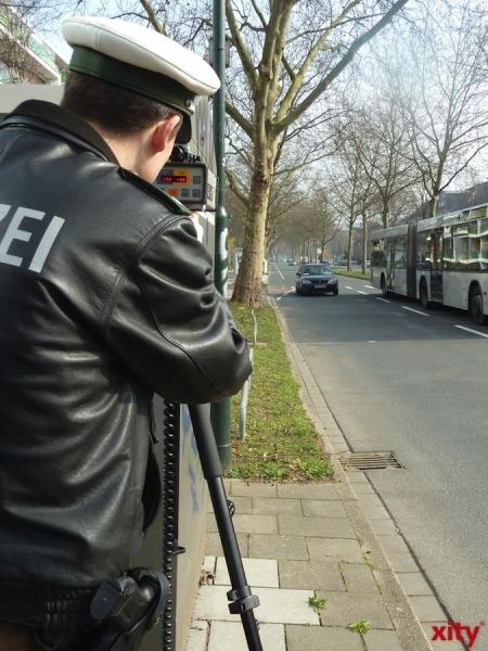 Geschwindigkeitskontrollen in Krefeld. (xity-Foto: P.I. )