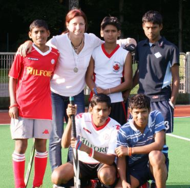 Spieler der Hockey-Village-India (Foto: Crefelder HTC)