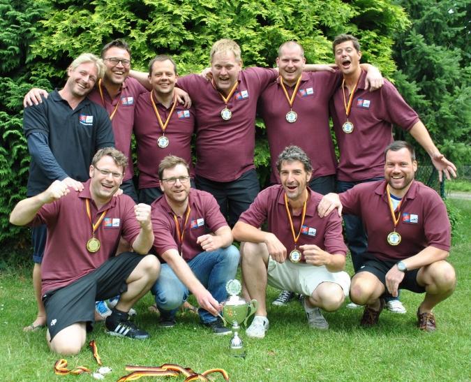Die Mannschaft AK 35 Herren, sind deutsche Meister geworden. (Foto:  André Plegge)