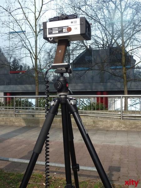 Geschwindigkeitskontrollen im Rheinalleetunnel (xity-Foto: P.I.)