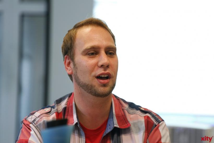 Stephan Kotsios ist verantwortlich für die Workshops zu Nutzung der Onlinebibliothek (xity-Foto: D. Creutz)