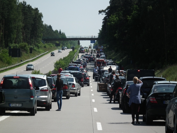 Jetzt fällt der Startschuss für die Sommerferien - auch auf den Autobahnen (xity-Foto: D. Postert)