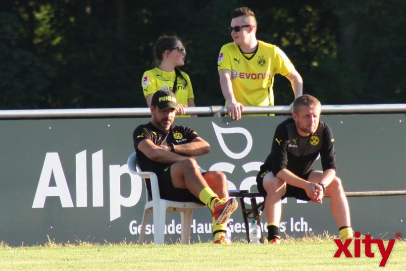 Das Trainergespann vom BVB war sichtlich entspannt. (xity-Foto. A.Meyer)