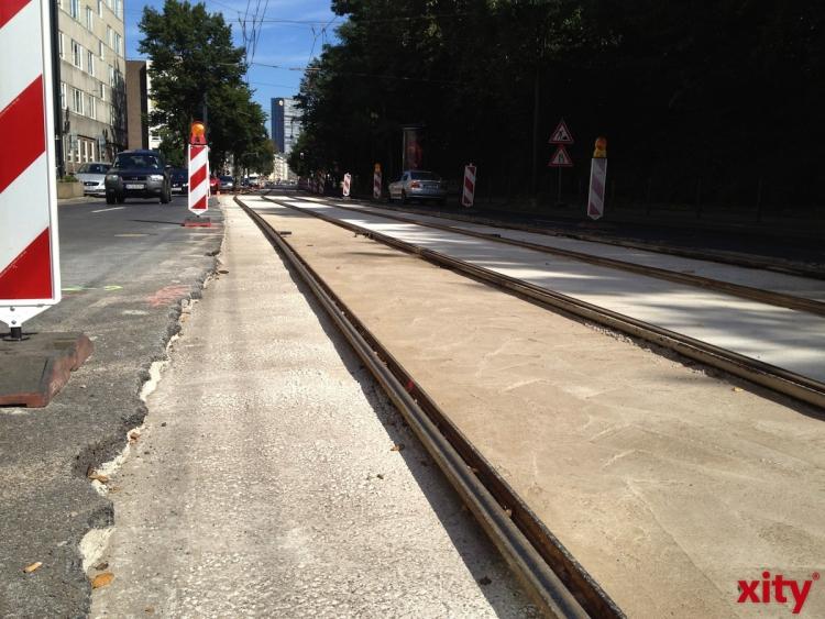 Gleisbauarbeiten am Graf-Adolf-Platz führen zu Änderungen für die Linien 704, 709, 715 und 719 (xity-Foto: P.I.)
