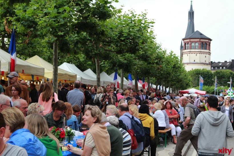 Rund 80.000 Besucher kamen zum Frankreichfest nach Düsseldorf (xity-Foto: P. Basarir)