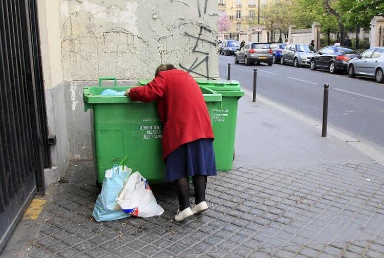 In Frankfurt und Leipzig sind Arm und Reich unter sich (© 2014 AFP)