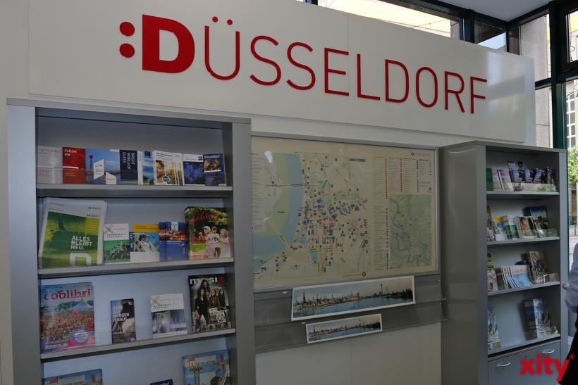 Besucher können sich erst einmal in Düsseldorf orientieren (xity-Foto: D. Creutz)
