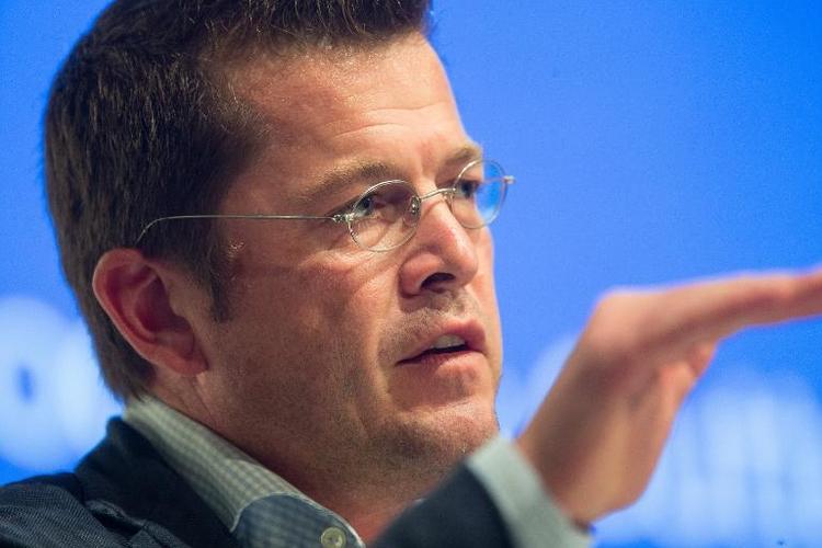 Ex-Minister Guttenberg arbeitet jetzt für Start-Up (© 2014 AFP)