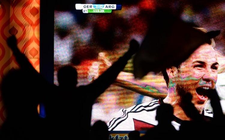 Deutscher WM-Sieg bringt neuen Quotenrekord (© 2014 AFP)