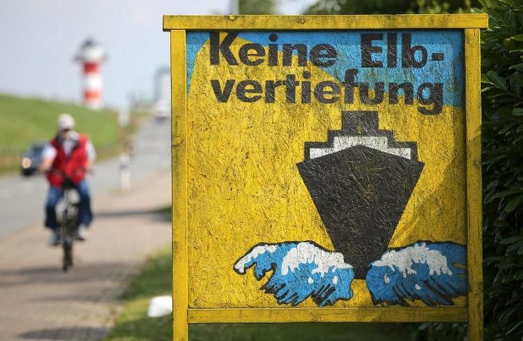 Bundesverwaltungsgericht verhandelt über Elbvertiefung (© 2014 AFP)