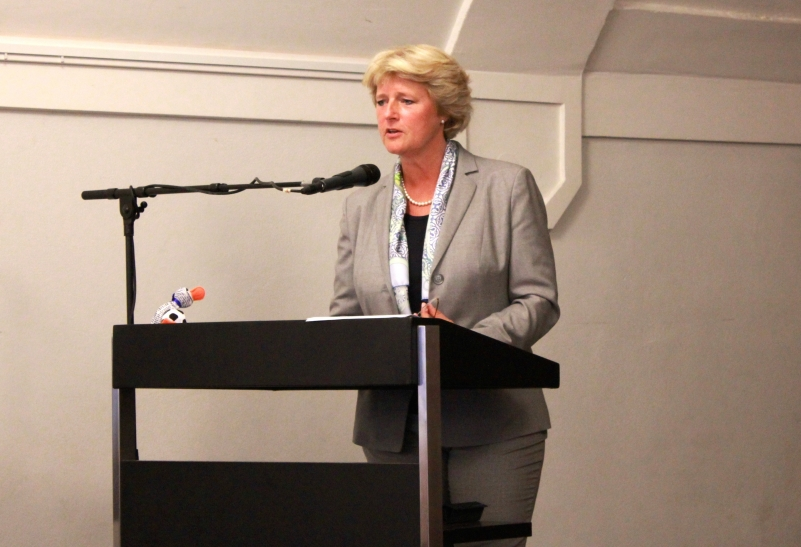 "Die Staatsministerin Frau Professorin Monika Grütters, nahm an der Veranstaltungsreihe ""Krefelder Dialog"" im Krefelder Südbahnhof teil. (xity-Foto: E. Aslanidou)"
