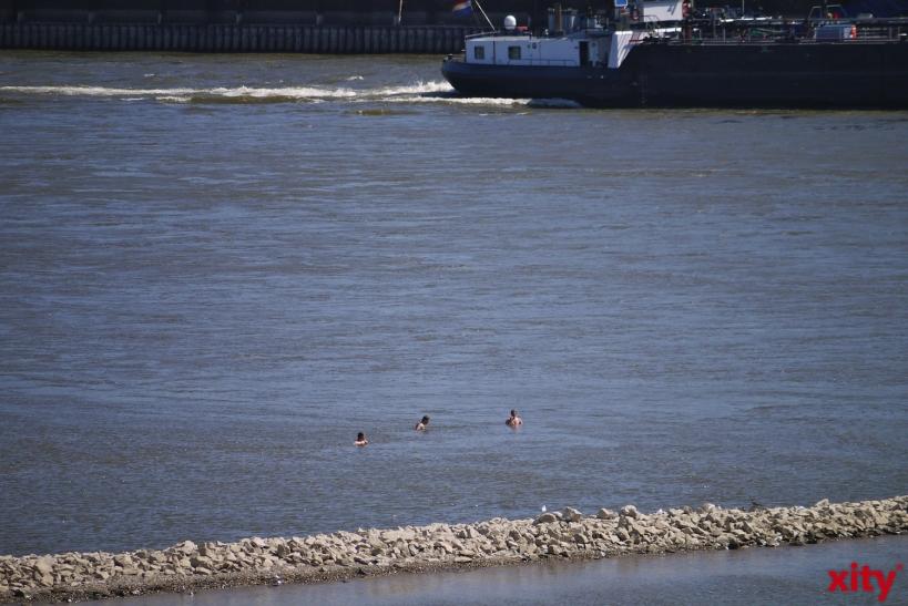 Vorsicht beim Schwimmen im Rhein und an Baggerseen (xity-Foto: D. Postert)