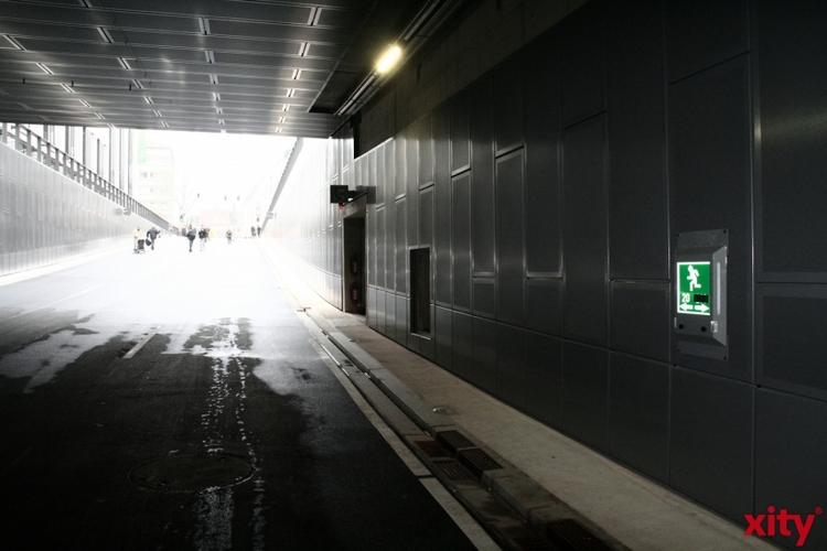Kö-Bogen-Tunnel in Richtung Süd-Nord wegen Arbeiten gesperrt (xity-Foto: M. Völker)
