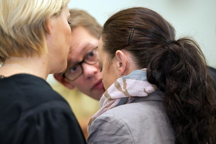 Zschäpe mit Verhandlungsführung der Anwälte unzufrieden (© 2014 AFP)