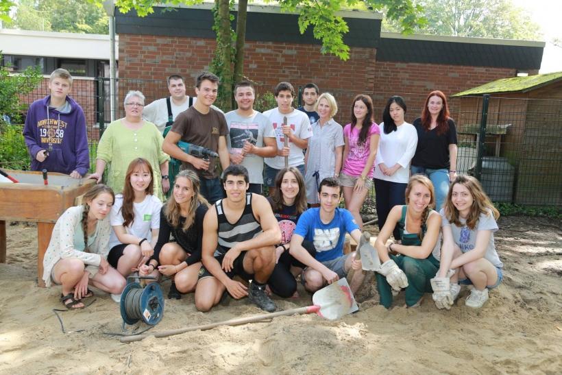 Jugendliche aus neun Nationen beim Internationalen Workcamp in Krefeld. (xity-Foto: E. Aslanidou)