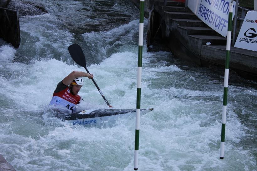 Deutsche Meisterschaft im Kanuslalom in Augsburg für Jugend/Junioren und Leistungsklasse. (Foto: Jens Sattler)