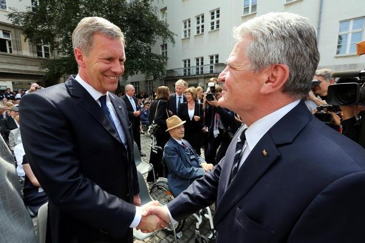 Wulff hat Respekt vor Nachfolger Gauck (© 2014 AFP)