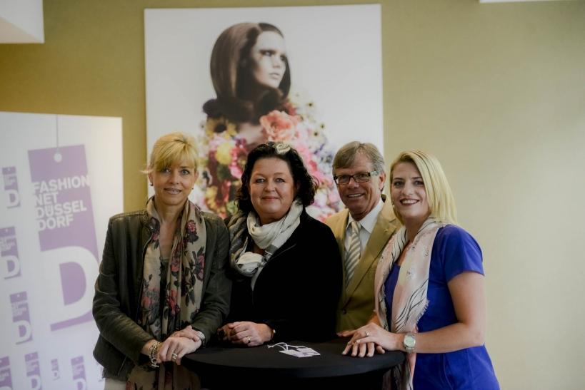 v.l.n.r. Ulrike Kähler, Annette Görtz, Klaus Brinkmann, Aline Schade (Foto: Fashion Net)