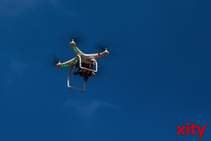 Videoaufnahmen auch aus der Luft (xity-Foto: R. Schumacher)